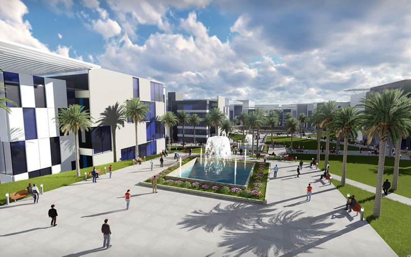 Al Hayah university fountain