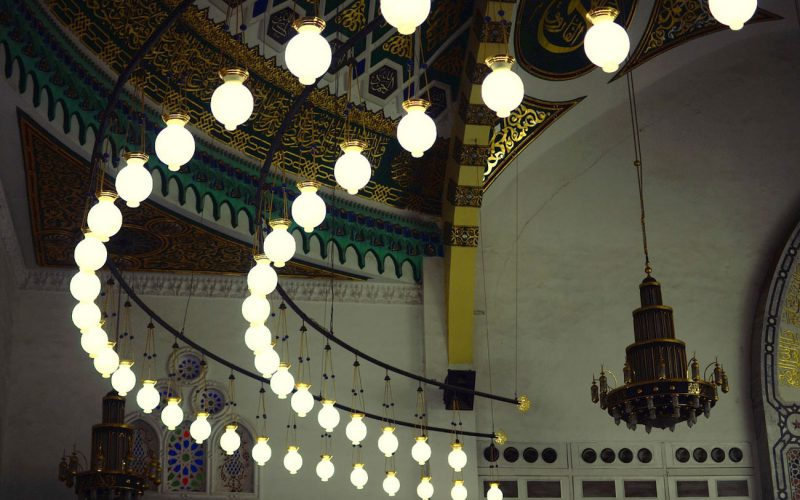 Al Hosary Mosque lanterns
