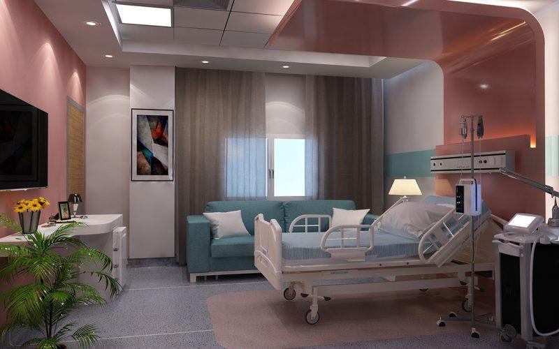 Dar El Teb Hospital patient room