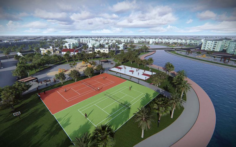 Eco City tennis courts