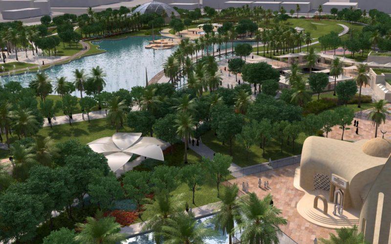 Rawdat Al Khail Park bird-eye view