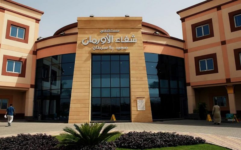 Shifaa Al Orman hospital in Luxor entrance