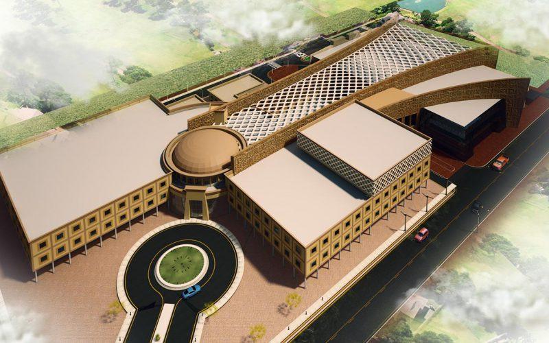 Shifaa Al Orman hospital in Luxor bird-eye view
