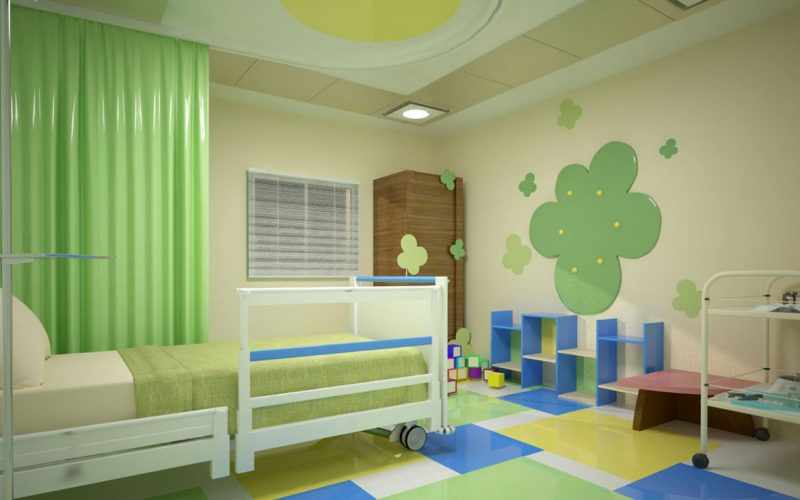 Al SHifaa Orman Hospital pediatric room